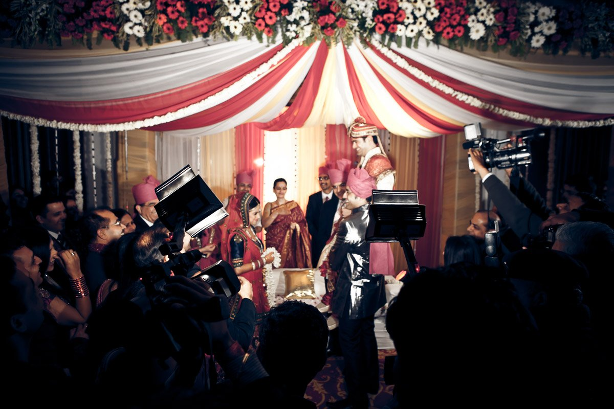 Camera Crew Guests Crowd | Palms Town Country Club | Gurgaon Indian Wedding | Rahul Rana Photography
