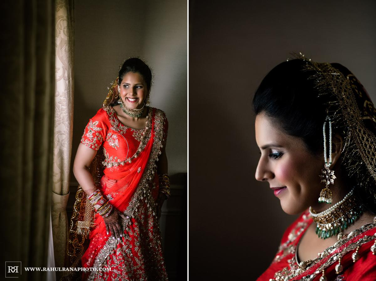 Bride Getting Ready - Drake Hotel Chicago - Indian Muslim Fusion Wedding - Rahul Rana Photography