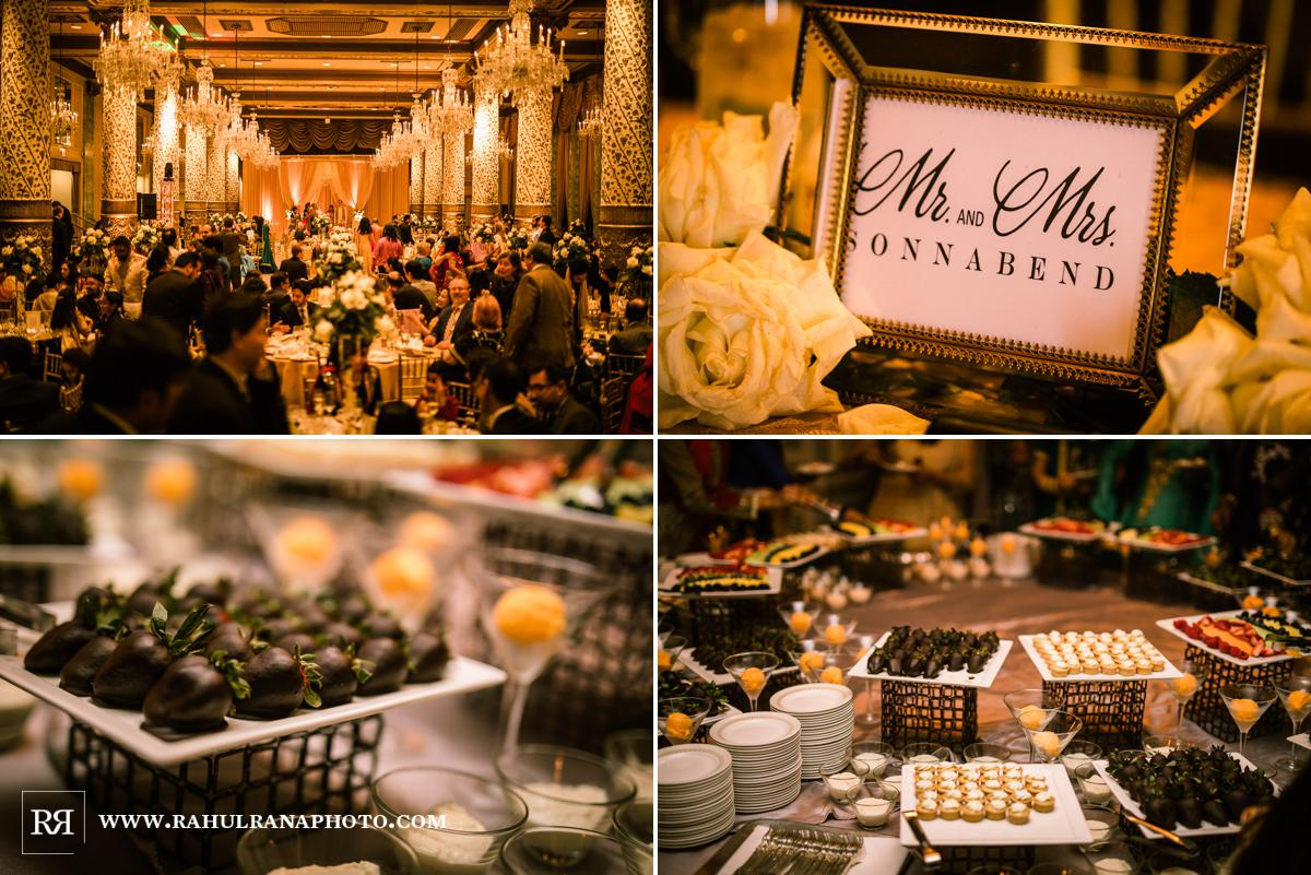 Dessert - Drake Hotel Chicago - Indian Muslim Fusion Wedding - Rahul Rana Photography