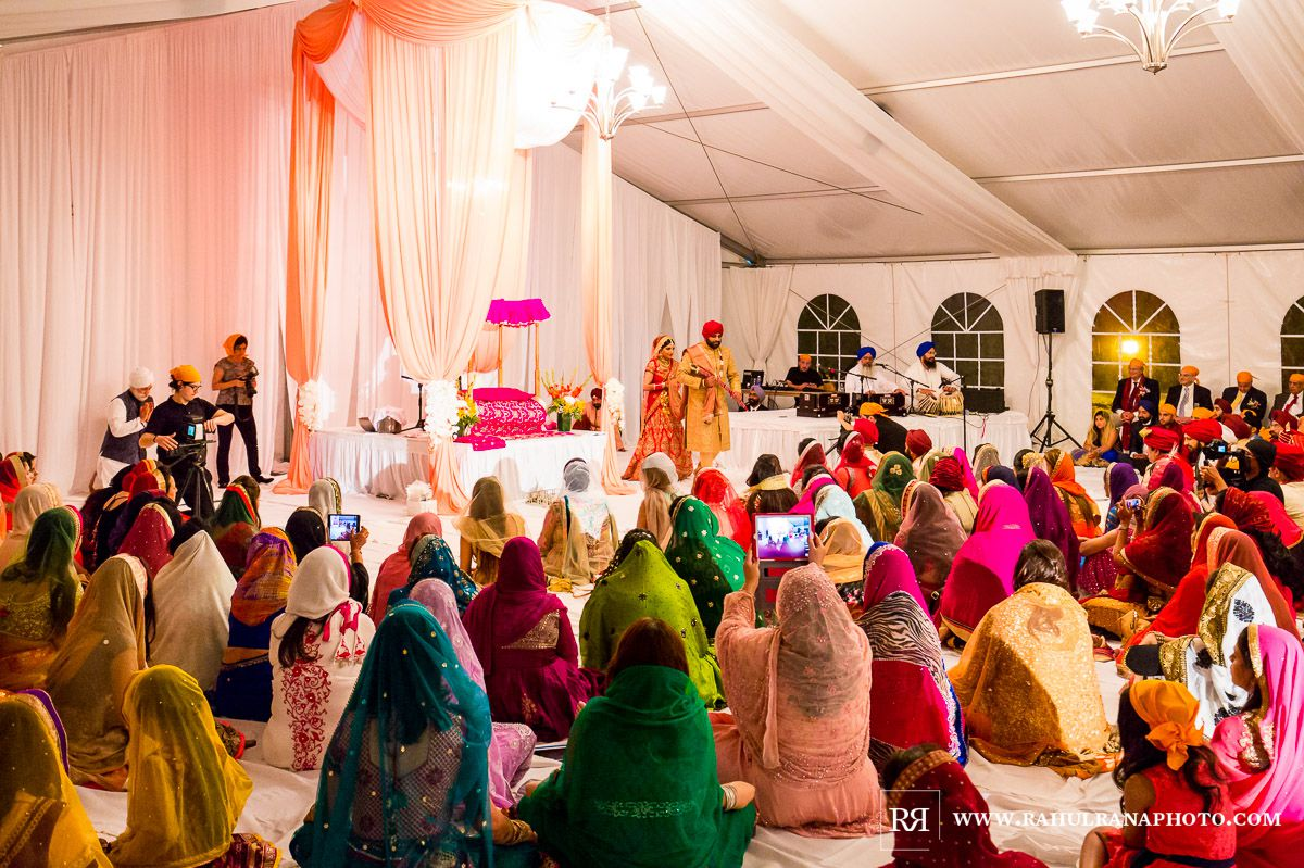 Elegance Decor - Chicago Marriott Schaumburg - Sikh Wedding Ceremony - Rahul Rana Photography