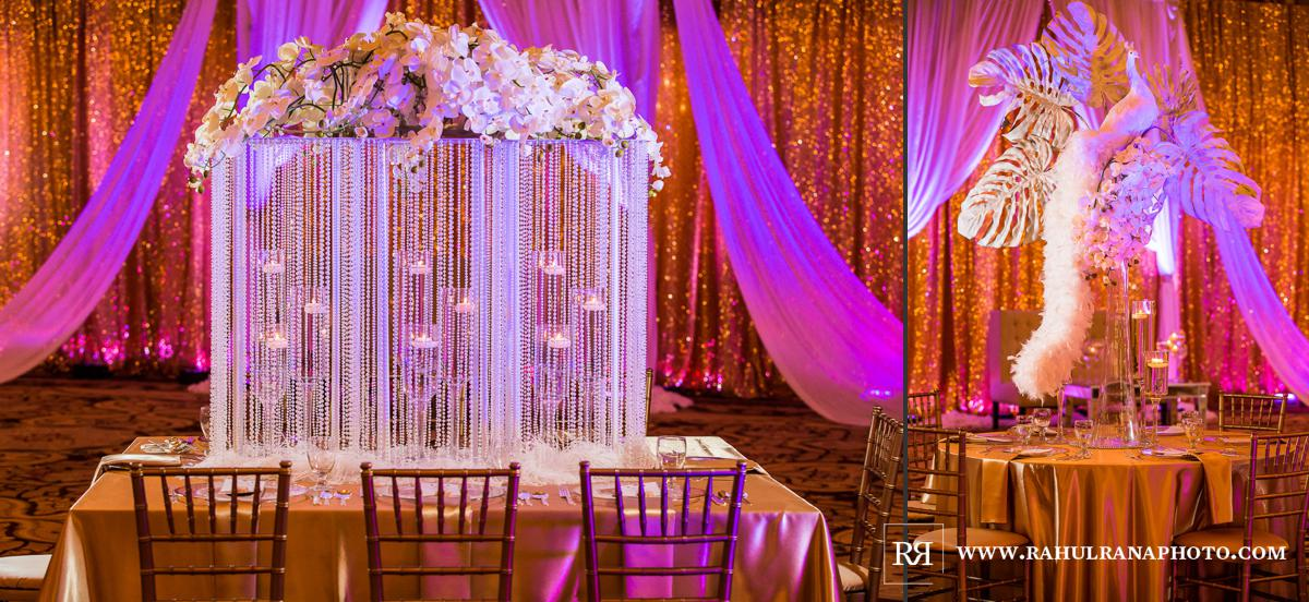 Elegance Decor Peacock - Palmer House Hilton Chicago - Indian Wedding Reception - Rahul Rana Photography