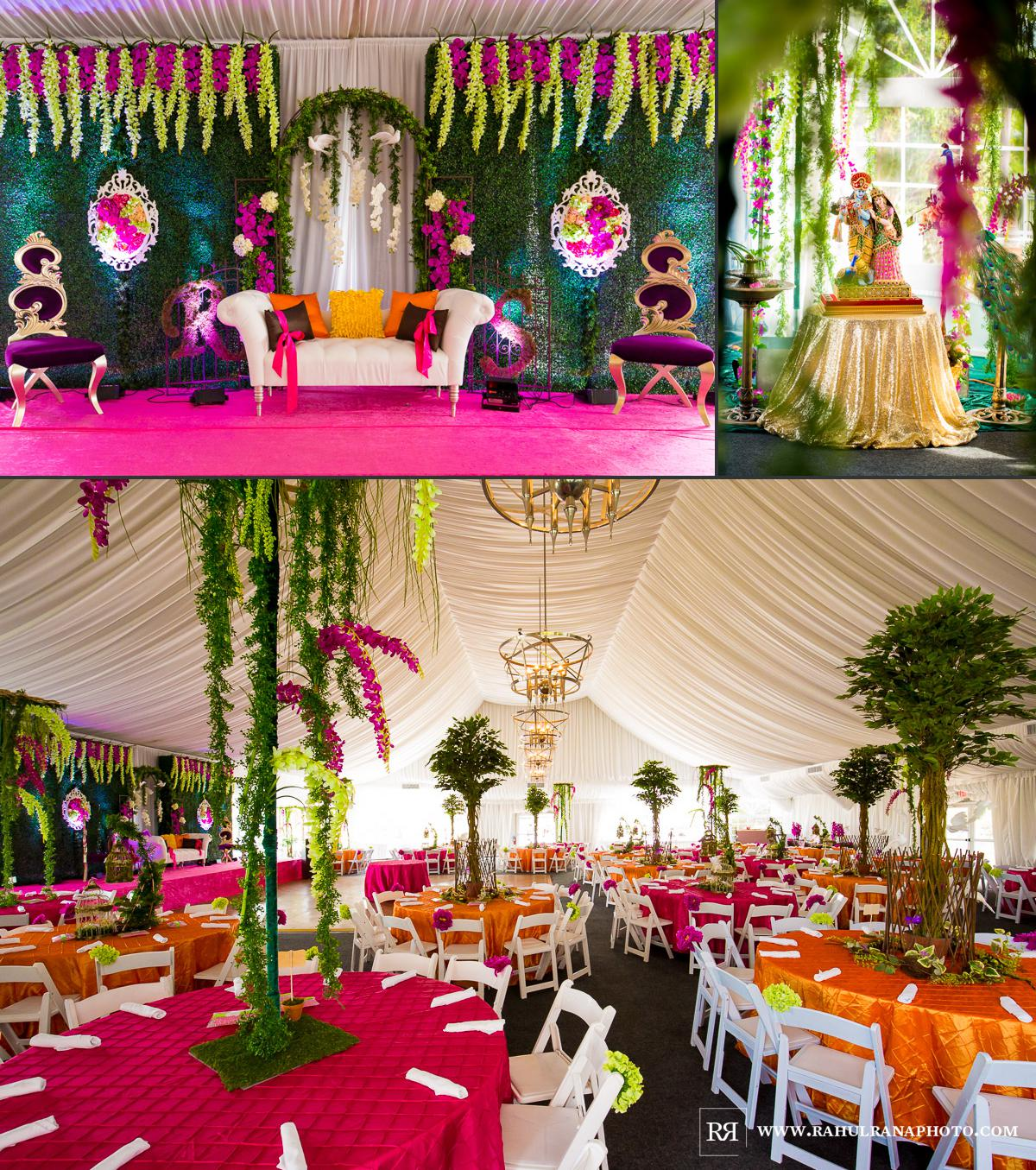 Chicago Indian Wedding Reception Decor