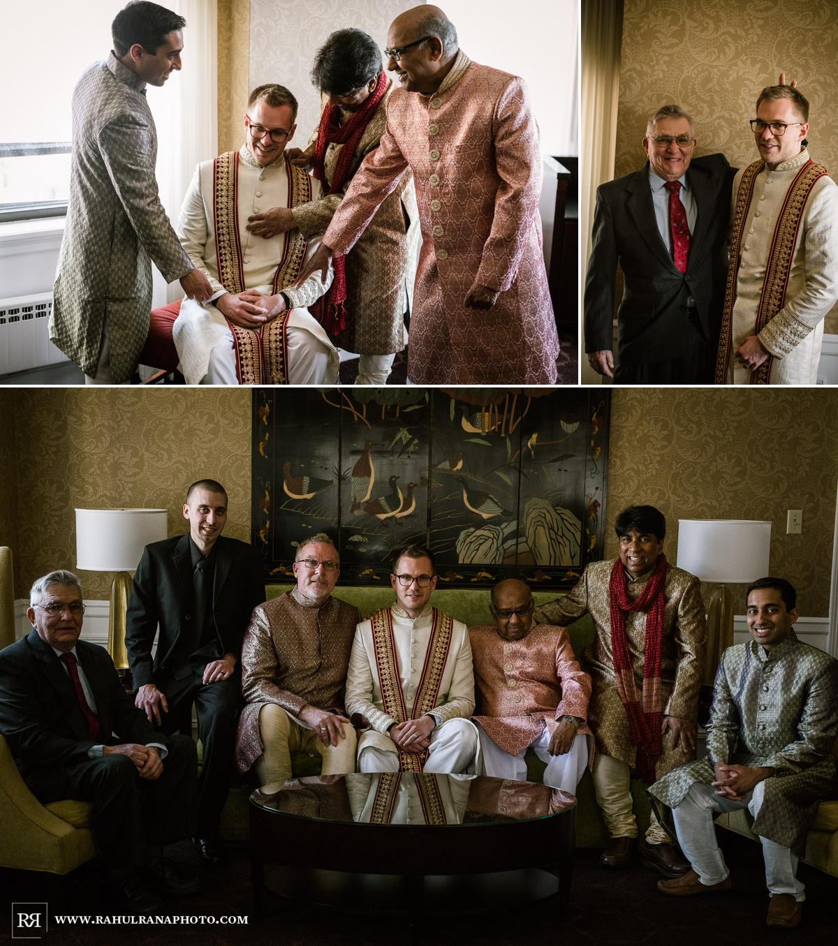 Groom Getting Read - Drake Hotel Chicago - Indian Muslim Fusion Wedding - Rahul Rana Photography