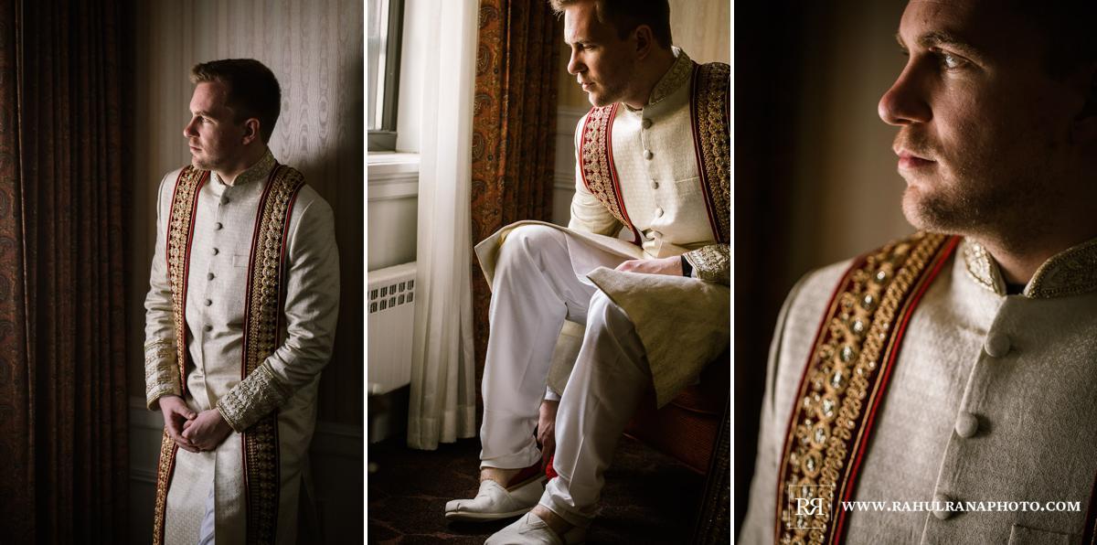 Groom Prep - Drake Hotel Chicago - Indian Muslim Fusion Wedding - Rahul Rana Photography