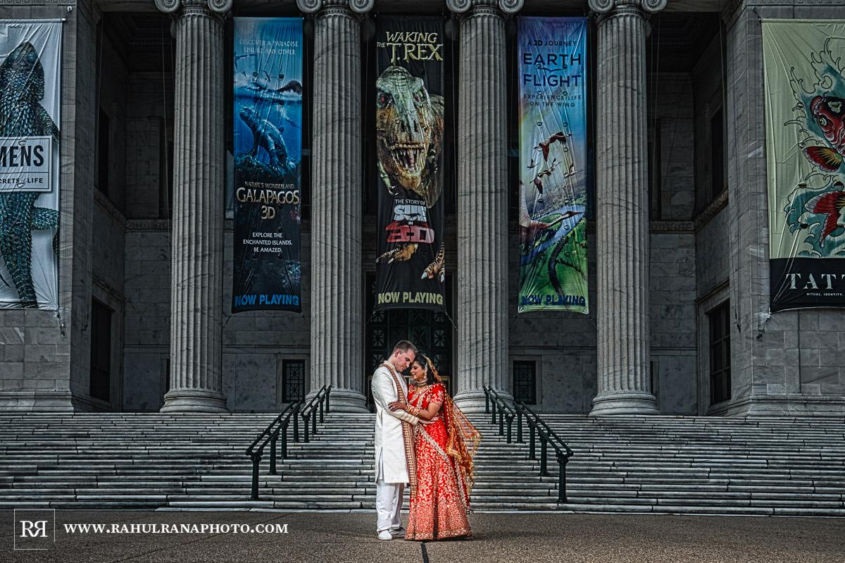 Portrait - Field Museum Chicago - Indian Muslim Fusion Wedding - Rahul Rana Photography
