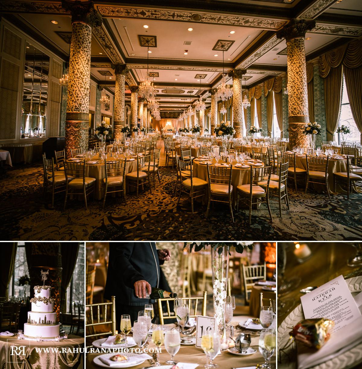Reception Decor - Drake Hotel Chicago - Indian Muslim Fusion Wedding - Rahul Rana Photography